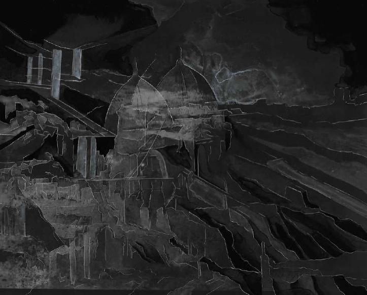 Creuser l'image #10, Guénaëlle de Carbonnières, gravure à la pointe sèche et encre sur tirage argentique, 20,4 x 25,3 cm, 2020