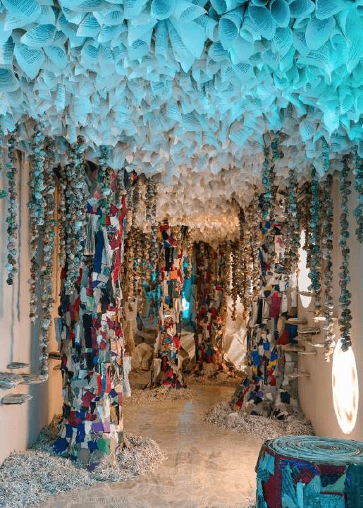 Naturæ Liber, Rachel Marks, Installation, 2x2x14 m, Exposition pour le Bridge Project, Children's Museum of the Arts, New York, Etats-Unis